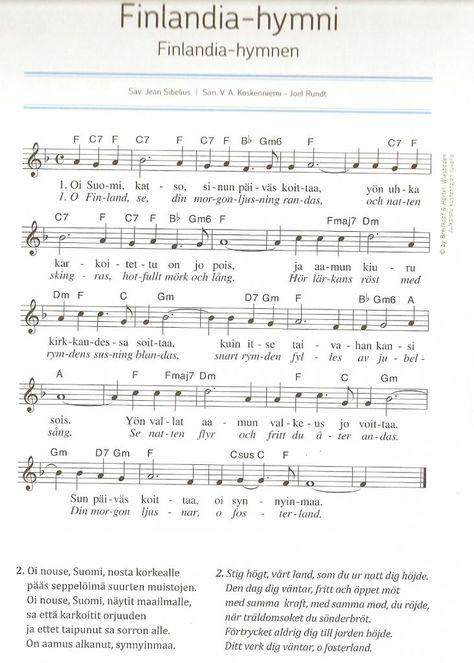 finlandia hymni chords