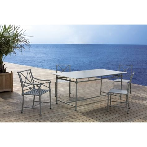 Epingle Sur Tables De Jardin En Aluminium Tectona