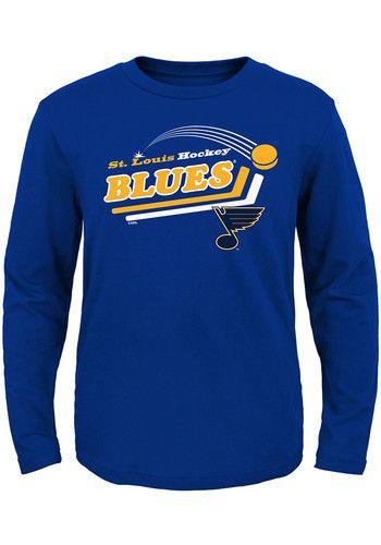 online store ea503 8466f St Louis Blues Toddler Blue Pucks Long Sleeve T-Shirt ...