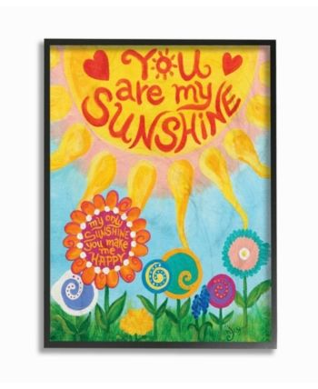 Stupell Industries The Kids Room You Are My Sunshine Framed Giclee Art 16 X 20 Reviews All Wall Decor Home Decor Macy S Art Wall Kids You Are