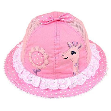 0f1b03072825b Amazon.com  Baby Summer Visor Bucket Hat Sun Protection Beach Cap Sunscreen  Mesh Hat  Clothing