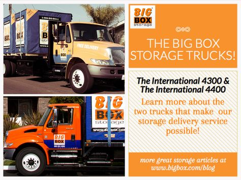 At Big Box Storage We Deliver Our Storage Units Right To Your Door With The Help Of International Trucks Le Storage Boxes Storage Unit