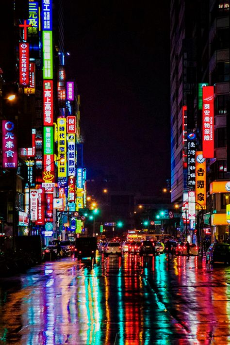 Taipei, Taiwan (going to Taiwan in a couple of months! I'm making my list of things I want from there already! Cyberpunk City, Urban Photography, Street Photography, Landscape Photography, Photographie Street Art, Japon Tokyo, Japon Illustration, Taiwan Travel, Neon Nights