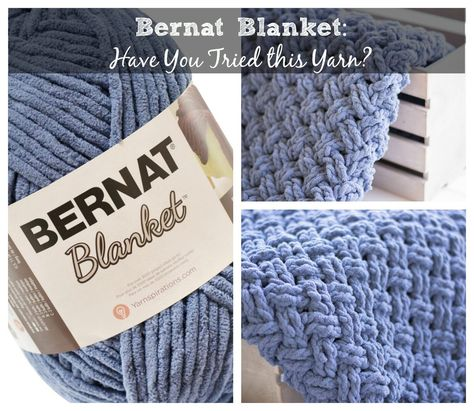 Bernat Blanket Extra Yarn | This jumbo weight yarn results in a
