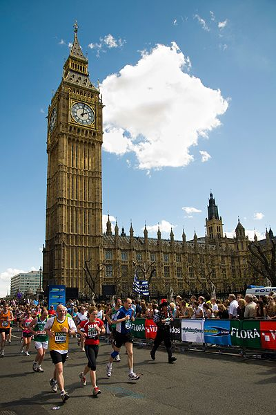 London Marathon--best run in the world.  Didn't stop smiling the whole way round (well maybe ay mile 20)
