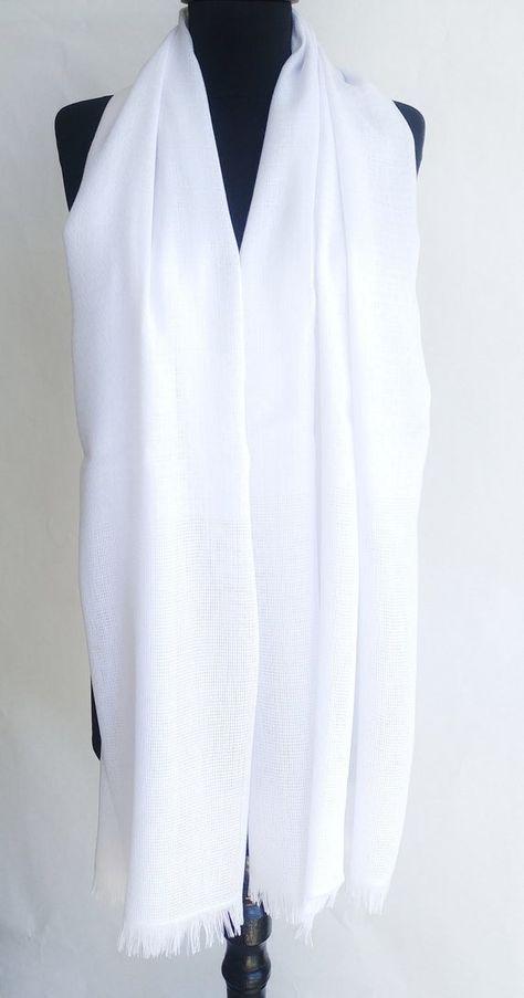 White Wedding Shawl White Bridal Shawl White Cotton Scarg Lightweight White Wrap White Pashmina Whit
