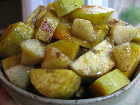 Cinnamon Butternut Squash and Plantain with Apple
