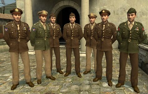 Digital picture of soldiers in Class A uniforms