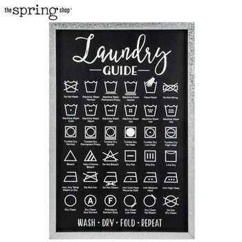 Laundry Symbols Guide Wood Wall Decor Laundry Symbols Wood Wall