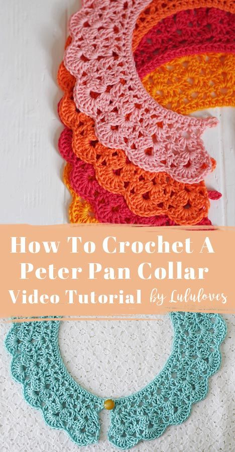 How to crochet a vintage style crochet collar – video tutorial and written pattern by Lululoves Croc – Knitting For Beginners Crochet Collar Pattern, Crochet Lace Collar, Crochet Yoke, Crochet Girls, Love Crochet, Crochet Earrings Pattern, Vintage Crochet Patterns, Crochet Stitches Patterns, Knitting Patterns
