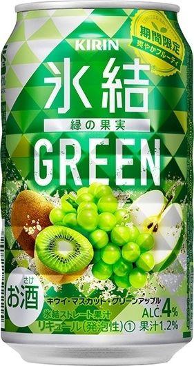 中評価kirin 氷結 Green 缶350mlの口コミ評価カロリー情報