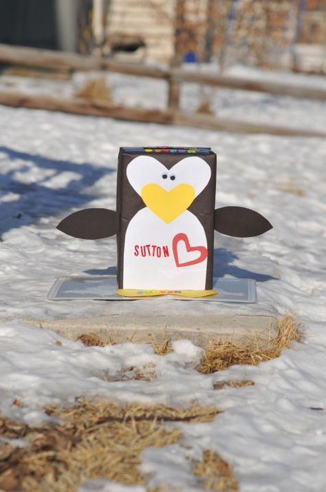 penguin valentine box