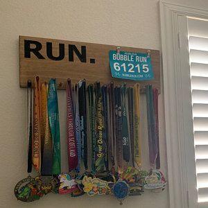 Marathon Medal Display Running Medals And Race Bibs Holder