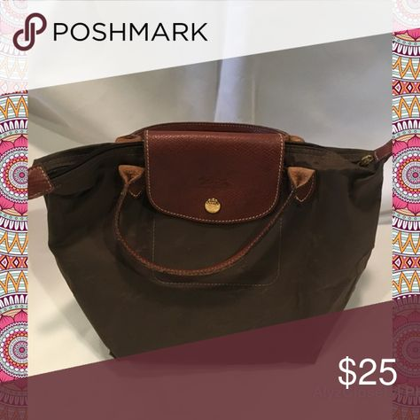 Longchamp Bags Totes. Longchamp tote Short handles longchamp tote, medium  size, chocolate brown nylon le pliage Shopper 376d82ea5e