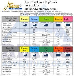 James Baroud Evasion Roof Top Tent Standard Size Roof Top Tent Top Tents Rooftop