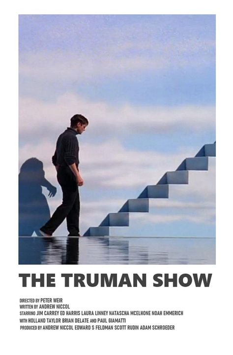The Truman Show minimal A6 movie poster | Etsy