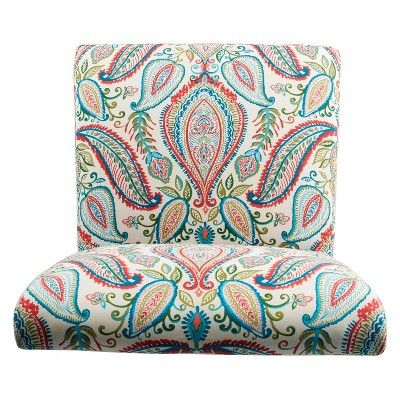 Astounding Homepop Slipper Accent Chair And Ottoman Coral Turquoise Short Links Chair Design For Home Short Linksinfo