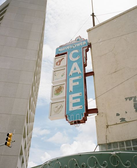 From calf liver to fried chicken and okra, the Mayflower Cafe is Jackson's favorite meat-and-three. The iconic sign has been hanging since 1935.