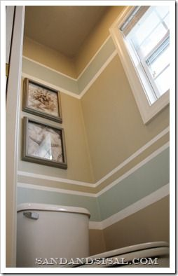Love the paint design... one wall in bedroom like this (wall with window) rest of walls the beige color