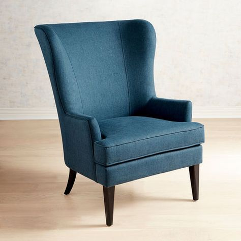 Magnificent Asher Pierformance Twill Baltic Blue Armchair Arm Chairs Bralicious Painted Fabric Chair Ideas Braliciousco