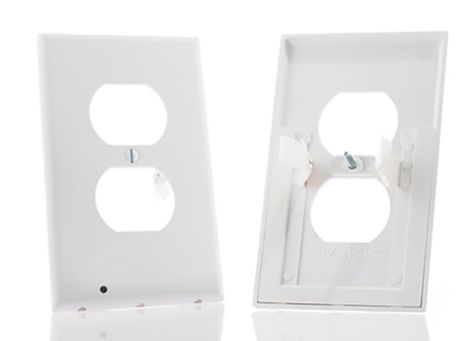 SnapRays Guidelight -- outlet covers with built in LED nightlights that turn on in the dark and automatically turn off during the day