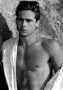 a young Brad Pitt.