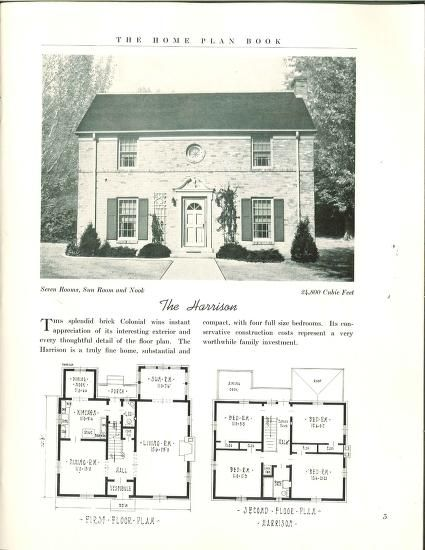 The Home Plan Book 49 Designs Home Plan Book Co Free Download Borrow And Streaming Internet Archive Colonial House Plans House Plans Cottage Floor Plans