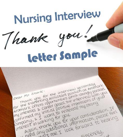 211 best Nursing Job  Interviewing Tips images on Pinterest Job - nursing interview thank you letter