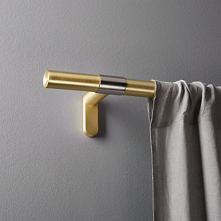 brass band curtain rod set