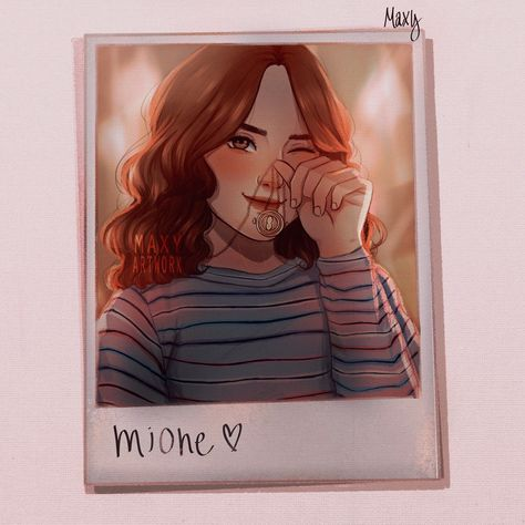 ‪had this idea of hermione having a polaroid and thought it would be cute‬ Images Harry Potter, Arte Do Harry Potter, Cute Harry Potter, Theme Harry Potter, Harry Potter Artwork, Harry Potter Drawings, Harry Potter Tumblr, Harry Potter Aesthetic, Harry Potter Wallpaper
