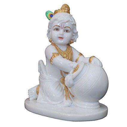 Bal Gopal Shree Krishna Ji White Marble Idol Krishna Statue