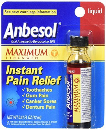 Anbesol Liquid Maximum Strength 0 41 Oz Review Oral Pain