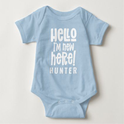 Hi Im New here Cute Funny Baby one Piece Bodysuit