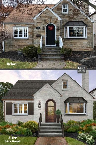 Check Out This Suburban New Jersey Makeover Not Crazy About Your Stone Romabio Makes Perf In 2020 Stone Exterior Houses Home Exterior Makeover Modern House Exterior