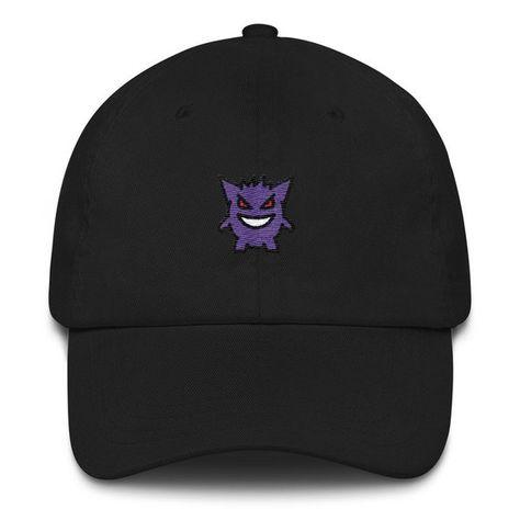 066274a3df6 Gengar Hat - Gengar - Pokemon - Pokemon Hat - Gengar Dad Hat - Pokemon Dad  Hat - Lets Go Eevee - Let