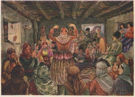 Азим Асланович Азим-Заде (1880-1943) - «Свадьба у бедняков»