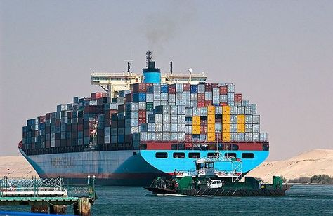 Container Ship Adrian On The Suez Canal Photo World Shipping Council Cargo Shipping Sailing Vessel Suez