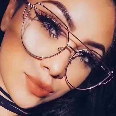 933974c04d Cat Eye Eyeglasses Double Beams Transparent Lens Anti-blue Light Eyewear