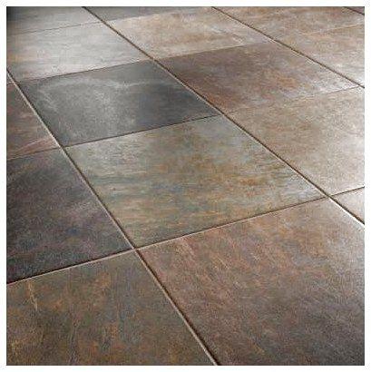 Ceramic Tile That Looks Like Slate Porcelain Tile Slate Look Wow Modernflooring Floorin Ceramic Tile Floor Kitchen Brown Tile Floor Trendy Kitchen Tile
