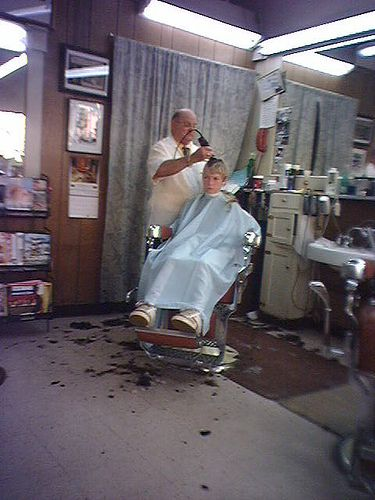 Getting a buzz cut