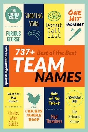 737 Best Team Names For Sports Work Play Sports Feel Good Best Team Names Team Names Fun Team Names