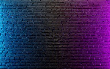 Modern Futuristic Neon Lights On Old Grunge Brick Wall Room Background 3d Rendering Sponsored Lights Grunge Ne Brick Background Brick Wall Background