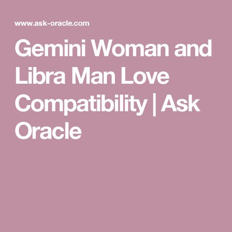 Gemini woman and cancer man compatibility