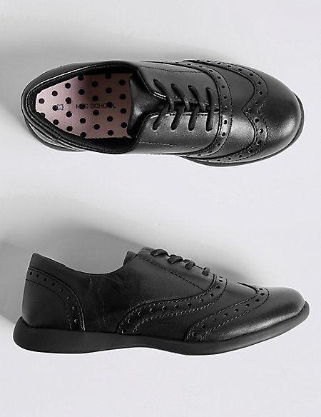 Kids' Leather Brogue School Shoes (8