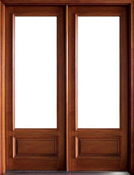 Mahogany Wakefield 1 Lite Double Door Double Doors Entry Doors Doors