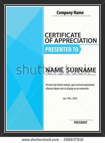 horizontal certificate template,diploma,Letter size ,vector - Corporate Certificate Template