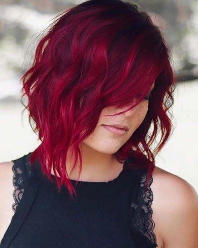 Rote Ombre Haarfarben Fur Alle Haartypen Im Jahr 2020 Hairdressing In 2020 Haarfarben Frisur Rot Leuchtend Rote Haare