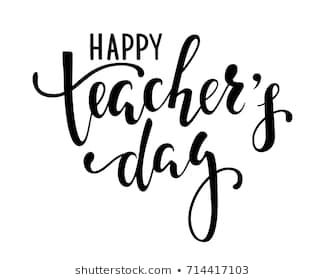 Happy Teacher S Day Hand Drawn Brush Pen Lettering Isolated On White Background Design For Holiday Greeting Card And Invitation Fly Tulisan Kreatif Motivasi