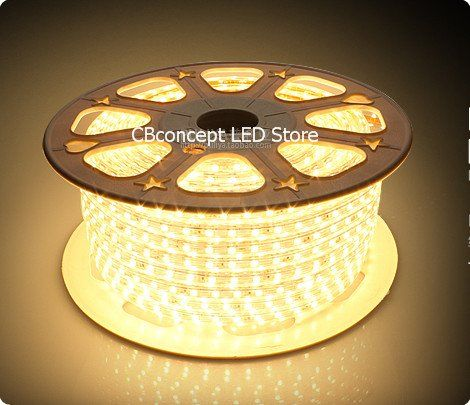 Cbconcept 90ft Warm White 120 Volt High Output Led Smd5050 Flexible Flat Led Strip Rope Light Christma Kitchen Ceiling Lights Outdoor Holiday Decor Rope Light