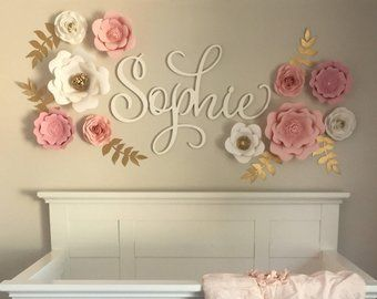 Lt Coral 3d Flowers Etsy Baby Room Wall Decor Baby Room Wall Paper Flower Wall Decor